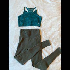 💚 Glyder Alter Crop Bra: Silver Pine Camo